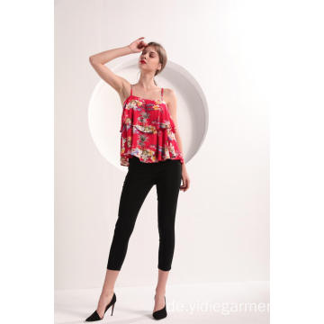 Frauen Red Floral Cami Top