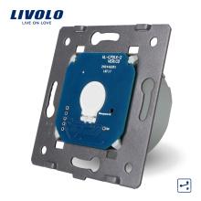 Fabricant Livolo UE Standard 1 Gang 2 Voies Mur Lumière De Contrôle Murale Écran Tactile Commutateur Électrique LED Sans Panneau De Verre VL-C701S