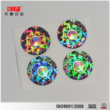Custom Hologram Security Seal Stickers For Cosmetic Box