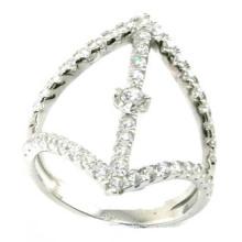 2015 El más nuevo anillo de plata de la joyería del precio 925 S de la manera y de fábrica (R10428)