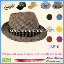 Newest Diamond Decoration Women's 100% Paper Straw Hat,LSP10
