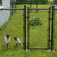 Anjing Kennel Hot mencelupkan Galvanized Used Chain Link Fence