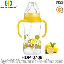 2016 Newly BPA Free Plastic Baby Milk Feeding Bottle, Customized Plastic Baby Feeding Bottle (HDP-0708)