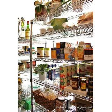 Double-Sided Heavy Duty Metal Supermaket Wire Display Shelves (HD184872A6CR)