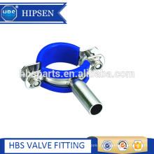 Encaixes de tubulação Suporte de tri-braçadeira de suporte de tubulação de aço inoxidável sanitária
