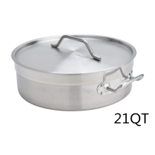 Estofado de acero inoxidable 21Quart Heavy Duty con tapa