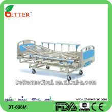Cama de hospital manual de 3 posições / 4 secções com preço do painel de abs