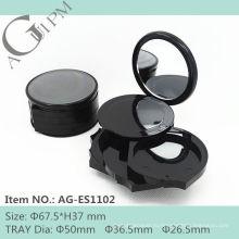 Раунда специальных компактный порошок контейнер с румяна и Eye Shadow АГ-ES1102, AGPM косметической упаковки, Эмблема цветов