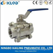 Hand Pull 1000 Wog Stainless Steel 3PC Ball Valve