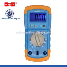 Multímetro digital popular DT710AL com testador de bateria Backligt