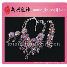 Fashion Design Charming Gorgeous Brilliant Purple Crystal Diamond Jewelry Sets