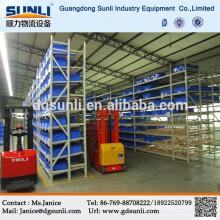 Pallet Carton Flow Rack, bastidores de rodillos, sistemas de estanterías con ruedas de patín ABS