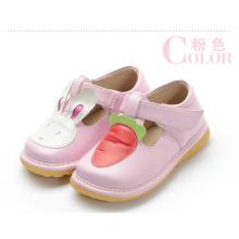 Rosa Mädchen Baby Schuhe Kaninchen Karotte T Strap Schuh