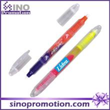 Marcador duplo marcador marcador marcador plástico transparente highlighter