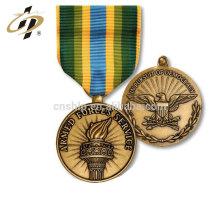 Échantillon gratuit moulage sous pression personnalisé en vrac blanc rond en cuivre ancien or sport médailles en métal
