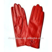 fashion leather gloves for ladies