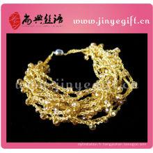 Chine Bracelet tricoté à la main de bijoux de fil de crochet Bracelet unique de corde