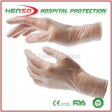 Luvas de exame de vinil do hospital Henso