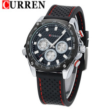 Classic Casual Sport Silicon Band Montres Hommes