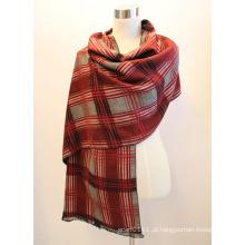 Senhora fashion viscose tecido jacquard franjas xaile (yky4412-2)
