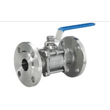 Сантехнические нержавеющей стали 3PC фланцевый шаровой кран (IFEC-BV100014)