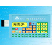 Embossed button with good tactile feel poly dome membrane keypad