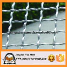 Galvanized woven crimped wire mesh / crimped wire mesh for sale
