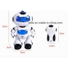 Romote Controle Toy Dancing Robot Música Bateria Crianças Brinquedos Plásticos