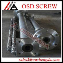 Bimetallic single screw barrel for PVC cable extruder