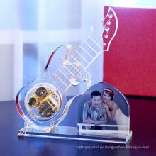 Новый Дизайн - Хрустальное Стекло Модель Гитары С Фото Рамка Для Свадьбы Сувениры Подарок 2015