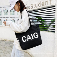 Custom eco recycled canvas bag cotton big shopping bags