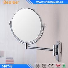 Espejo de pared cromado de latón cosmético 3X