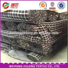 Alibaba 6 años proveedor de oro aseguramiento comercio al por mayor de hilo teñido de algodón tela de franela de tela de franela stock