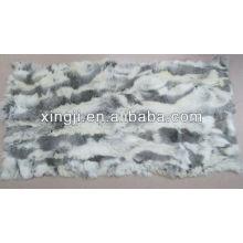 Chinese chinchilla rabbit belly fur plate natural color rabbit fur scraps