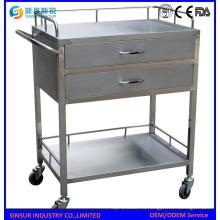 Больничная мебель Многофункциональная тележка из нержавеющей стали для больниц