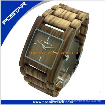 Faixa de 100% de alta qualidade e movimento do relógio de madeira