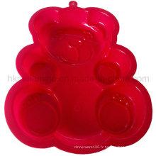 Moule en forme de gâteau de silicone en forme d'ours (RS39)