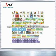 copper paper non toxic printed-logo decoration pvc magnet