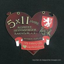Benutzerdefinierte Znic Legierung Medaille schöne Medaille transparenter Farbe Medaille
