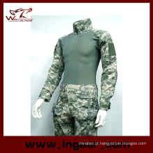Combate de Airsoft militar uniforme de camuflagem Frog Suit