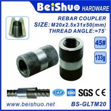 Material de Construção Aço Carbono Rebar Splicing Coupler Sleeve