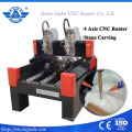 High Quality Stone Engraving Machine Double Spindle 3d Marble Cnc 4 axis Rotary Carving