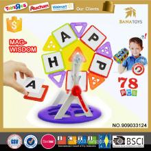 78PCS plastic building blocks toys for kids