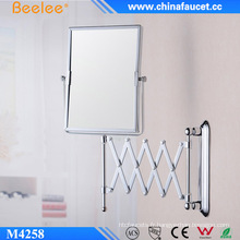 Miroir magique décoratif 3X avec cadre en laiton double face