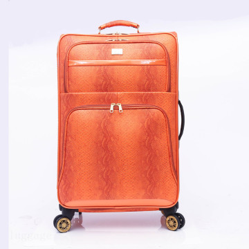Comercio al por mayor Durable vintage private label PU leather luggage