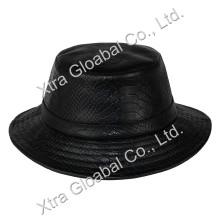 Fashion Snakeskin Leather Hat Bucket Hats
