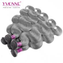 New Arrival Body Wave Brazilian Gray Hair Weave