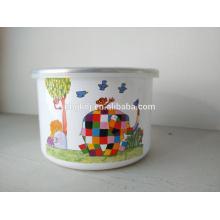 Tazón de fuente de hielo del esmalte del cuenco de hielo lindo del esmalte Cuenco de almacenamiento del esmalte