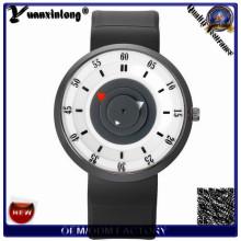 Yxl-425 nuevos relojes de lujo del salto del diseño hombres de las mujeres de los hombres que se divierten la fábrica del reloj del cuarzo del cuero