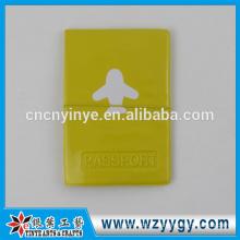 capa de passaporte de couro pu personalizado